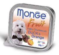 Monge Dog Fruit , утка с апельсином 100г