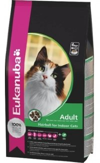Eukanuba cat hairball для кошек  2 кг.